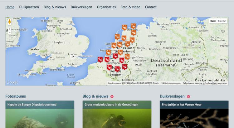 Duikplaats.net screenshot